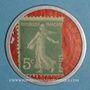 Münzen Crédit Lyonnais. 5 centimes (vert/rouge)