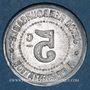 Münzen Hérault (34). Syndicat de l'Alimentation en Gros. 5 centimes, fauté : frappe incuse du revers