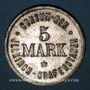 Münzen Illkirch-Graffenstaden (67). Consum-Genossenschaft (1873-79). 5 mark