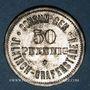 Münzen Illkirch-Graffenstaden (67). Consum-Genossenschaft (1873-79). 50 pfennig
