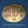 Münzen Infanterie. 107e. Mess des Sous-Officiers. Angoulême (16). 20 centimes