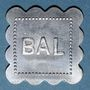 Münzen Jeton de bal anonyme. Bon pour 1 danse