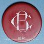 Münzen La Bourboule (63). Casino Municipal. 20 francs. plastique laminé rouge, gravé et peint en blanc