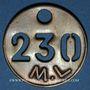 Münzen Landres (54). Mines de Landres M. L., Jeton de pointage, n° 230