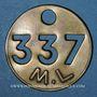 Münzen Landres (54). Mines de Landres M. L., Jeton de pointage, n° 337