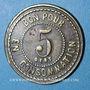 Münzen Le Puy (43). Grand Café de Paris. 5 centimes. Laiton