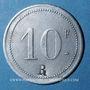 Münzen Le Puy (43). Hôtel Barthélemy. 10 francs contremarqué R
