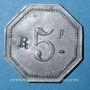 Münzen Le Puy (43). Hôtel Barthélemy. 5 francs contremarqué R
