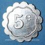 Münzen Le Puy (43). Hôtel Maurice. 5 centimes