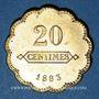 Münzen Longwy (54). Aciéries de Longwy - Hôtel Economat. 20 centimes 1883