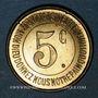 Münzen Lons-le-Saunier (39). Caisse de Famille. Economat Saint-Désiré. 5 centimes