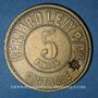 Münzen Lyon (69). Bernard Levy & Cie. 5 francs
