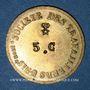 Münzen Lyon (69). Société des Travailleurs Unis. 5 centimes