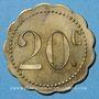 Münzen Martigny-les-Bains (88). Casino. 20 centimes