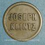 Münzen Mulhouse (68). Joseph Klintz, restaurant. 16 pfennig