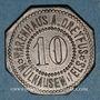 Münzen Mulhouse (68). Warenhaus A. Dreyfus (Grand magasin). 10 pfennig. Zinc