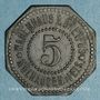Münzen Mulhouse (68). Warenhaus A. Dreyfus (Grand magasin). 5 pfennig. Zinc