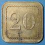 Münzen Nancy (54). Grande Taverne (17, rue St Dizier). 20 centimes