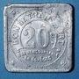 Münzen Nantes (44). Compagnie des Tramways. 20 centimes, contremarque ovale