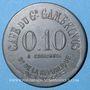 Münzen Nîmes (30). Café du Gd. Gambrinus, Bd de la République. 10 centimes