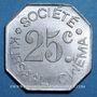 Münzen Nîmes (30). Société Kursaal Cinéma. 25 centimes