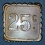 Münzen Olonzac (34). Grand Café Soler. 25 centimes. Type rare !
