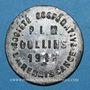 Münzen Oullins (69). Société Coopérative P. L. M., La Renaissance. 25 centimes 1916, contremarqué