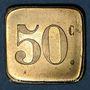 Münzen Paris (75). Café du Nouveau Siècle. 50 centimes