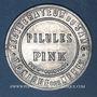 Münzen Paris (75). Pilules Pink. 5 centimes (vert/rouge)