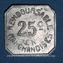 Münzen Pau (64). Coopérative Militaire. 25 centimes