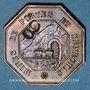 Münzen Portes (30). Mines de Portes et de Senechas. 1 franc contremarque 8