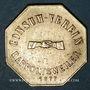 Münzen Ribeauvillé (68). Consum Verein. Fünf Pfund Brod (5 livres de pain). 1877. Flan épais