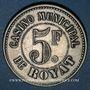 Münzen Royat (63). Casino Municipal. 5 francs. Maillechort