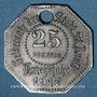 Münzen Saint-Avold (57). Ville. 25 pfennig 1917