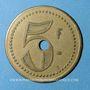 Münzen Saint-Germain-en-Laye (78). Café du Débarcadère. 5 francs