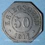 Münzen Sarrebourg (57). Ville. 50 pfennig 1917. Faux de Rotlinger