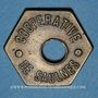 Münzen Saulnes (54). Coopérative de Saulnes. Baguette. Perforé