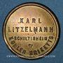 Münzen Schiltigheim (67). Karl Litzelmann - Kohlen Briketts (briquettes de charbon). sans valeur. Laiton