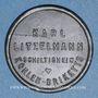 Münzen Schiltigheim (67). Karl Litzelmann - Kohlen Briketts (briquettes de charbon). sans valeur. Zinc