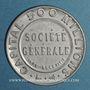 Münzen Société Générale. 10 centimes (rouge/bleu)