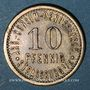 Münzen Strasbourg (67). Arb. Consum Genossenschaft. 10 pfennig