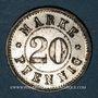 Münzen Strasbourg (67). Arb. Consum Genossenschaft. 20 pfennig