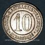 Münzen Strasbourg (67). Consum-Genossenschaft Artillerie Werkstadt. 10 (pfennig)