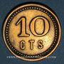 Münzen Strasbourg (67). Fr. Mutschler (restaurant Grande Taverne Vignette). 10 centimes
