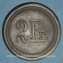 Münzen Strasbourg (67). Fr. Mutschler (restaurant Grande Taverne Vignette). 2 francs