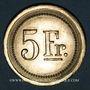Münzen Strasbourg (67). Fr. Mutschler (restaurant Grande Taverne Vignette). 5 francs