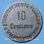 Münzen Valentigney (25). Etablissements Peugeot. 10 centimes
