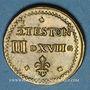 Münzen Henri III (1574-1589). Poids monétaire du demi-teston