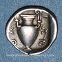 Münzen Iles de Thrace. Thasos. Trihémiobole, vers 411-350 av. J-C
