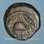 Münzen Judée. Hérode le Grand (40-4 av J-C). Moyen bronze (8 prutoh) an 3 (= 40 av. J-C). Sébasté (Samarie)